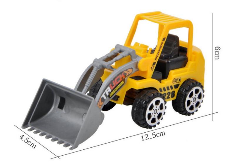 1 PC Mainan Anak Mini Teknik Kendaraan Mobil Truk Excavator Model Mainan Anak Hadiah Anak Mainan Pendidikan Gaya Secara Acak