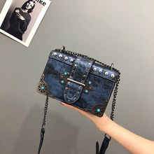 Famous Brand Women PU Leather Messenger Bags Women Luxury Rivet Shoulder Bag Designer Handbag Ladies Fashion Small Crossbody Bag brand casual pu small alligator crocodile chains ladies women clutch famous designer shoulder messenger crossbody bags for lady