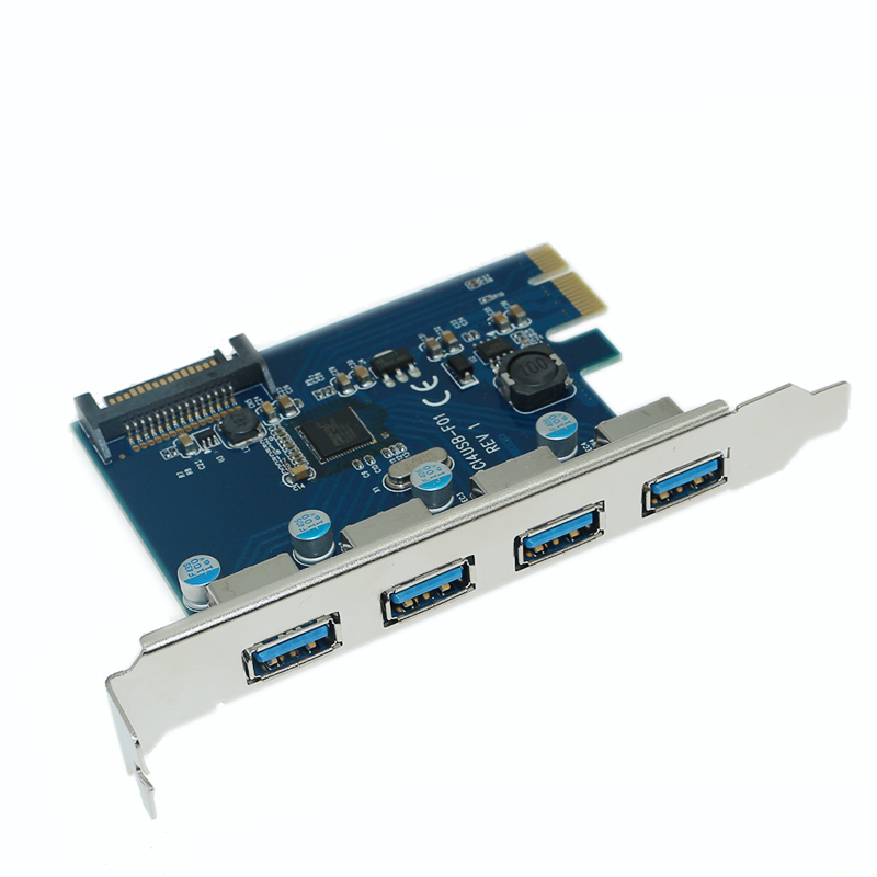 PCIE a 4 puertos USB 3,0 PCI-E adaptador PCI Express de 4 puertos USB 3,0 HUB 5,0 Gbps 19Pin FL1100 chipset apoyo WIN10 WIN8 MAC OS