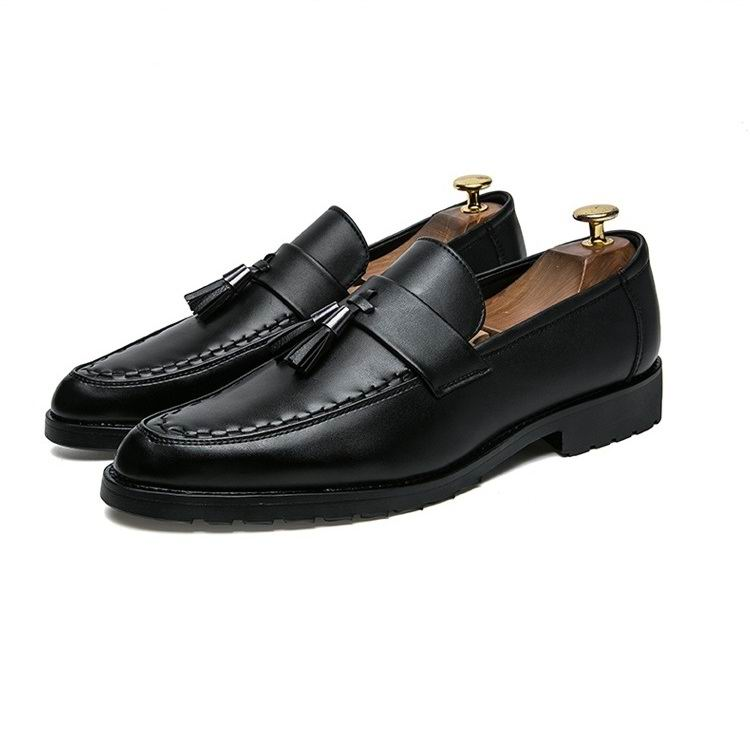 En Cuir Weishimibang De Bout Chaussures Luxe Bateau Hommes