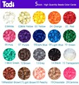 5mm perler beads 20 bags total 10000 pieces colorful optional kids magic beads free shipping
