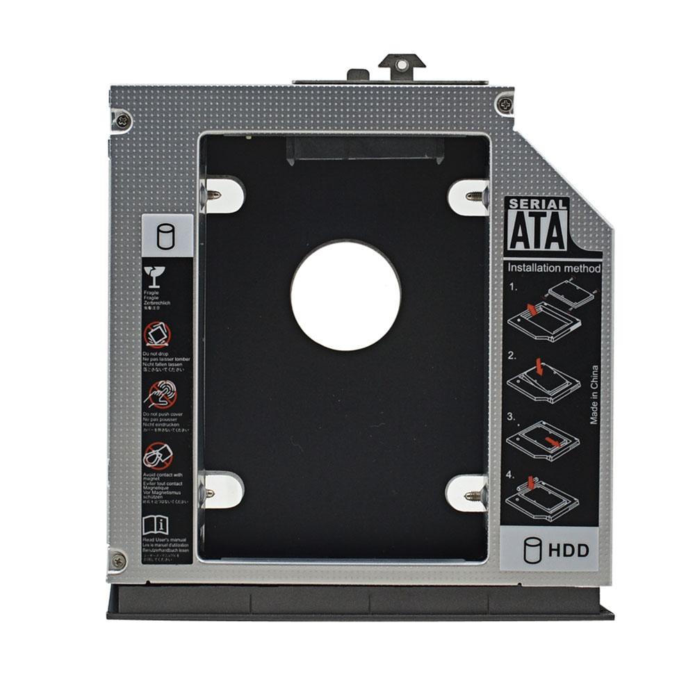 DY-tech 2nd HDD SSD Hard Drive Caddy for HP Compaq 6530b 6535b 6730b 6730s 6735b 6735s 6820s 6830s with Faceplate Bezel Mounting Bracket