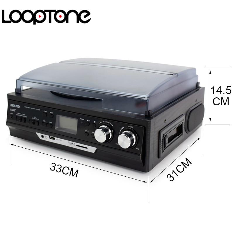 LoopTone 3-Speed Vinyl LP salvestusmängijad Plaadimängija - Kaasaskantav audio ja video - Foto 4