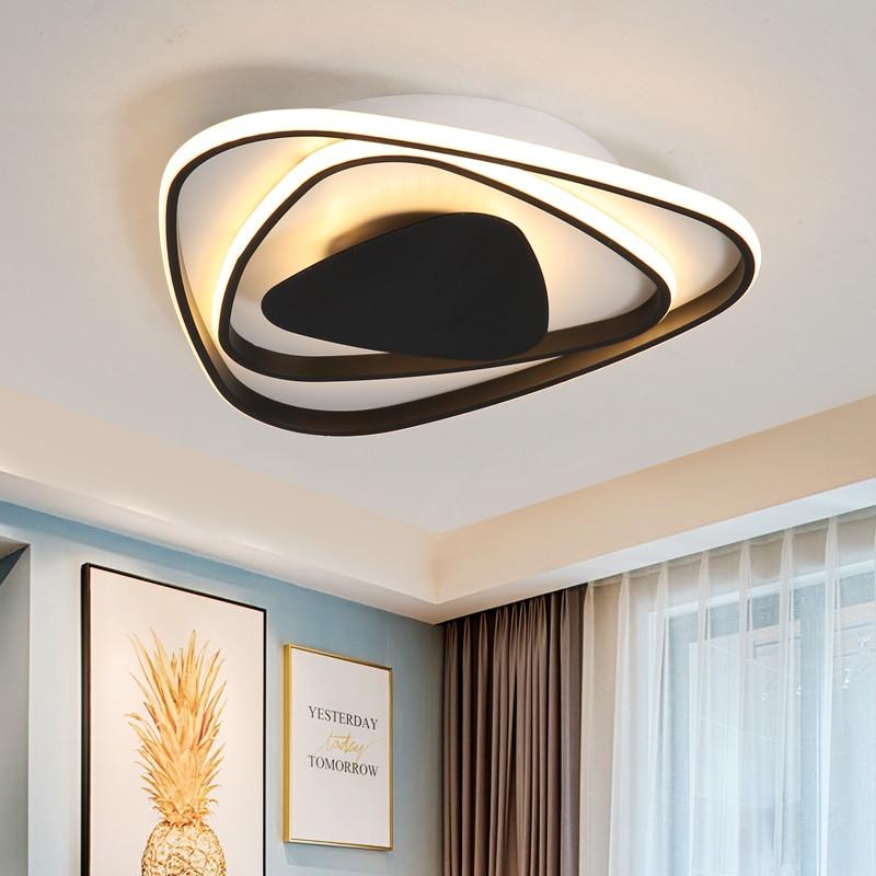 Modern New Aluminum Led Chandelier lights white black color For Living Room Bedroom chandelier lighting lampadario