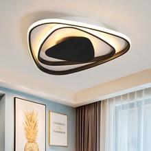 Modern New Aluminum Led Chandelier lights white/black color For Living Room Bedroom chandelier lighting lampadario led