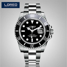 LOREO Germany Watches Men Luxury Automatic Self-Wind Luminous Waterproof 200M Oyster Perpetual Diver Relogio Masculino AB2271