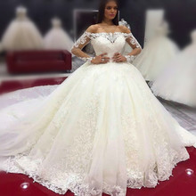 kejiadian ivory Ball Gown Wedding Dresses 2019 royal train