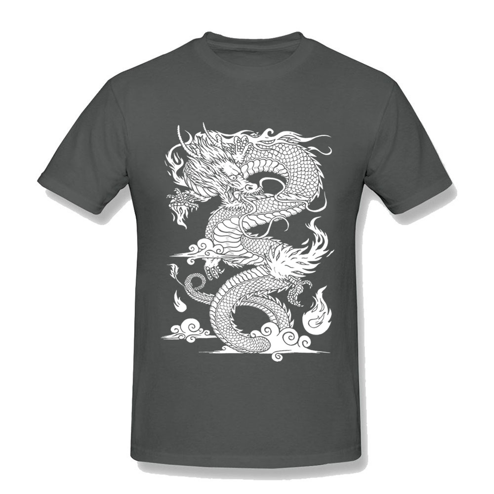 Great Tees Free Shipping Mens T-Shirts Chinese Dragon Short Sleeve Tees Shirts Pre-Cotton Cool Design 3d TShirt Male twin peaks