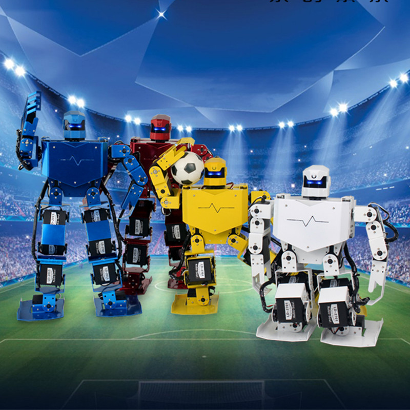 Robo-Soul H3S Intelligent Robot Humanoid feet with MP3 Competition education teaching voice for DIY robot new 17 degrees of freedom humanoid robot saibov6 teaching and research biped robot platform model no electronic control system