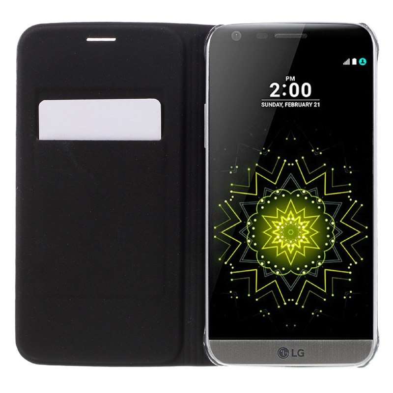 LG5 / G5SE غطاء واقي بي يو جلدي لاجهزة 5