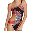 Estilos de Moda de verano 2017 de Impresión de las mujeres swimswear Body Hot Sexy Backless Beach de una pieza del traje de baño Traje de Baño