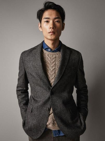 top brands lowest price great discount US $52.56 27% OFF|New Arrival Mens Jacket Only Warm Winter Trench Coat Slim  Fashion Men 's Suit Jacket Coat Herringbone Pattern Tweed Man Jacket-in ...