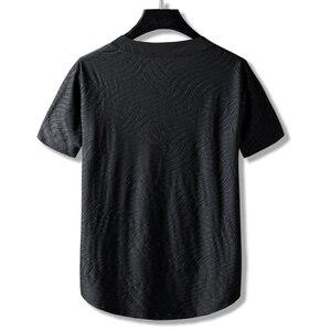 Image 2 - Lớn Mã Plus Kích Thước Quốc Triều Chính Anh Trai 10XL 9XL Rời Cotton Cổ Nửa Áo Thun Nữ Tay Ngắn Thêu Nam