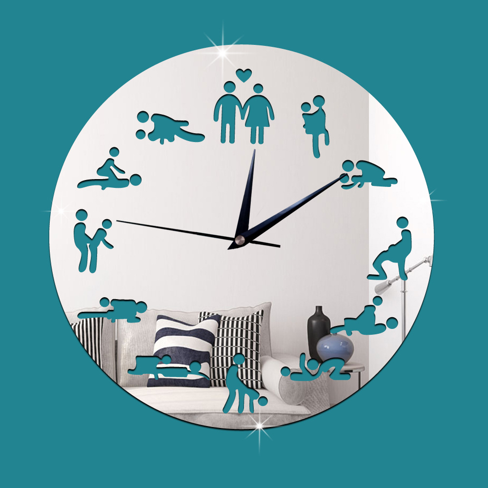 Aliexpress Com Buy Fashion 3d Diy Mirror Wall Clock