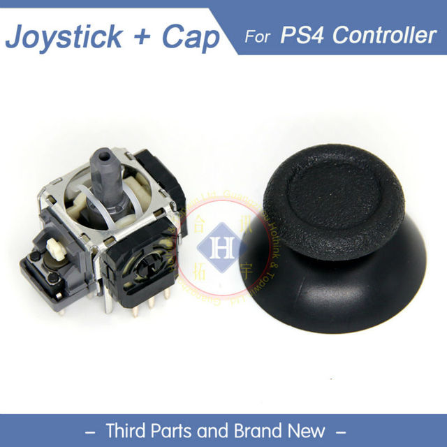 HOTHINK New Replacement 3D joystick analog Thumb stick with joystick cap cover Thumbstick for PS4 controller Dualshock 4