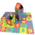 36 Шт./1 компл. Игрушки Головоломки Пены EVA Мат Буквы Алфавита, Цифры Головоломки Дети Intelligence Development Ванна Воды Плавающие игрушка