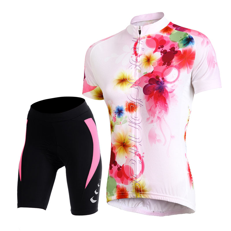 Tasdan Women's Cycling Jersey Sets Bike Wear Bicycle Cycling Clothings Jerseys Shorts MTB Shorts Sports Clothing Sets Suits triathlon fitness women sports wear shorts kit sets cycling jersey mountain bike clothing for spring jersey padded short page 4