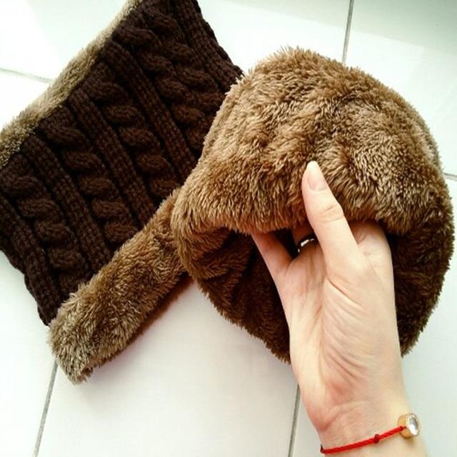 Xuyijun Balaclava Knitted hat scarf cap neck warmer Winter Hats For Men women skullies beanies warm Fleece dad cap