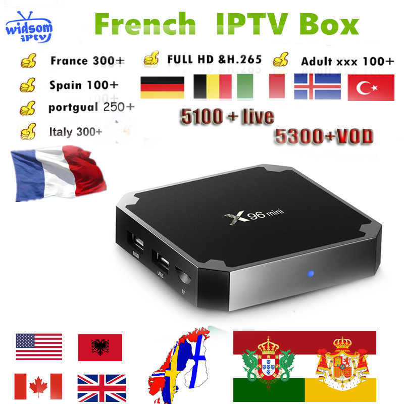 X96mini android 7 1 TV box 1 year French IPTV Subscription Italia Portugal Spain Sweden Netherlands