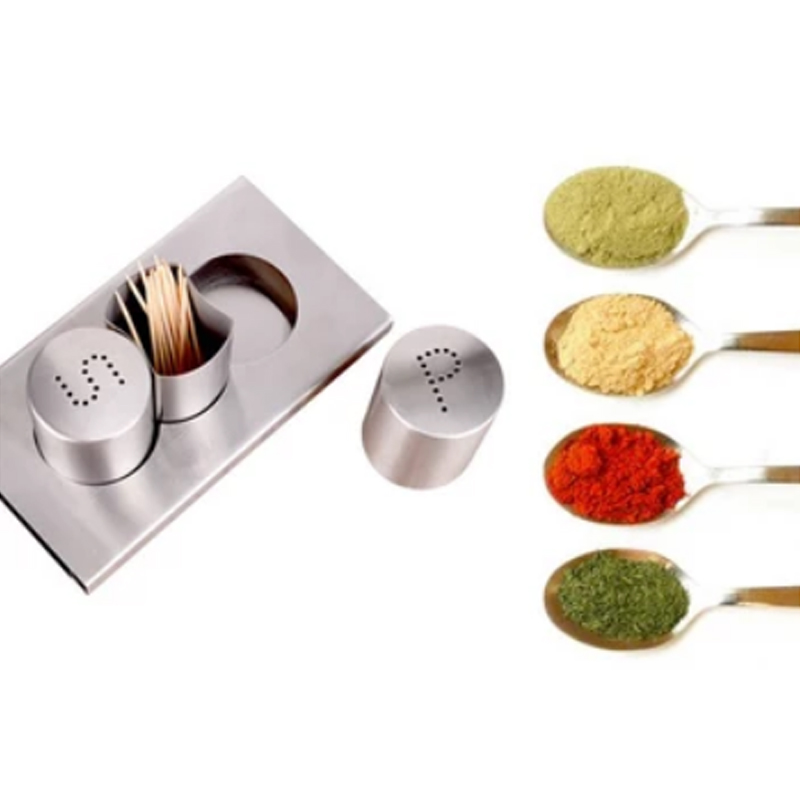 Stainless Steel Seasoning Box, Toothpick, Table, Bottle, Pepper Condiment Box Set