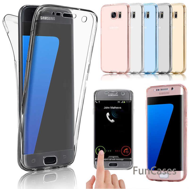 Cuerpo completo caso del TPU para el caso de Samsung Galaxy S8 S9 Nota 8 Nota 9 S7 borde J4 J6 J8 2018 A6 A8 más A3 A5 A7 2017 J3 J5 J7 2017, 2016