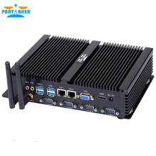 Причастник I2 Intel i5 3317u промышленный ПК HDMI 4 RS232 двойной NIC 2 LAN 8 USB WiFi прочный компьютер