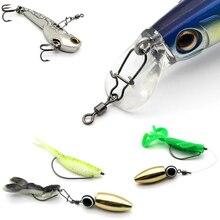 10 100 pcs/Lot pivote connecteurs de pêche roulement à broche pivotant broches à ressort solide avec un joli crochet de pêche
