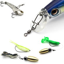 10 100pcs/Lot  Swivels Fishing Connectors Pin Bearing Rolling Swivel Snap Pins Solid  with Nice Snap Fishhook Lure Tackle