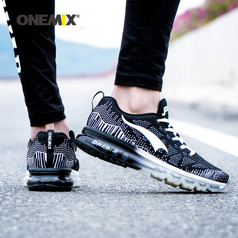Onemix Women Rhythm Music Breathable Mesh Outdoor Running Shose Sneakers Sports Shoes Light Shoes Women Big Size 3.5-9.5 Black outdoor sport women high top running shoes genuine leather running boots sneakers women plus big size
