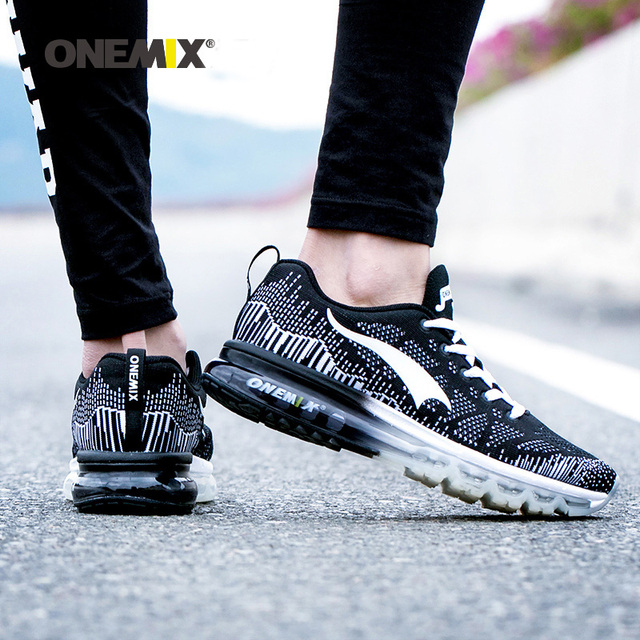 Onemix Women Rhythm Music Breathable Mesh Outdoor Running Shose Sneakers Sports Shoes Light Shoes Women Big Size 3.5-9.5 Black