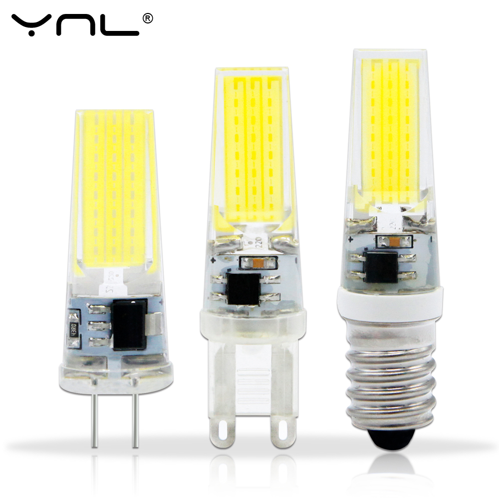 ynl lampada led lamp e14 g4 g9 220v ac dc 12v cob 1505 2508 bombillas g4 led bulb g9 cob lights. Black Bedroom Furniture Sets. Home Design Ideas
