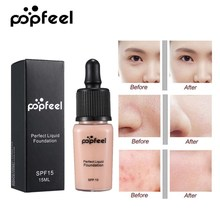 Popfeel Full Cover Concealer Perfect Liquid Foundation Face Makeup Cosmetic Base Matte Concealer Brightenning Foundation Cream все цены