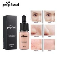 Popfeel Full Cover Concealer Perfect Liquid Foundation Face Makeup