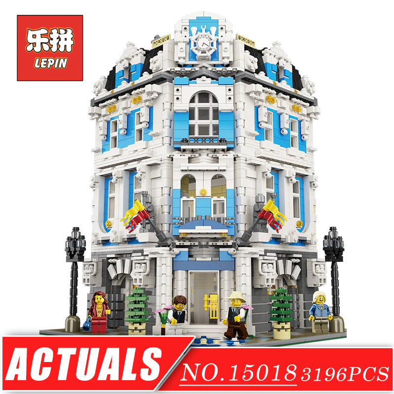 Genuine City Creative Series LEPIN 15018 Large House Sunshine Hotel Model Building Blocks Bricks Set DIY Plastic Toys for Child plastic standing human skeleton life size for horror hunted house halloween decoration