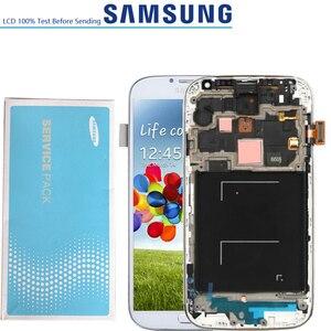 Image 2 - 5.0 המקורי LCD תצוגת מסך מגע Digitizer לסמסונג גלקסי S4 GT i9505 i9500 i9505 i9506 i337 LCD עם מסגרת