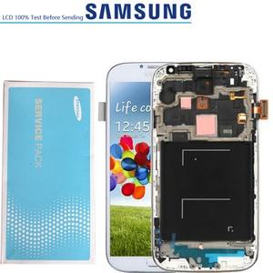Image 2 - 5.0 الأصلي شاشة الكريستال السائل محول الأرقام بشاشة تعمل بلمس لسامسونج غالاكسي S4 GT i9505 i9500 i9505 i9506 i337 LCD مع الإطار