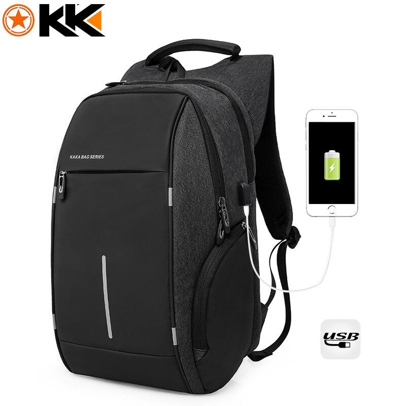 KAKA Mode Marke USB Lade Männer Rucksack 15 zoll Laptop-tasche Rucksäcke Männlichen Nylon Wasserdichte Reise Rucksack Schul mochila