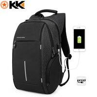 KAKA 16 5Inch Men Waterproof Laptop Packback Multifunction Reflective Stripe Backpack Travel Backpacks Teenager Boys School