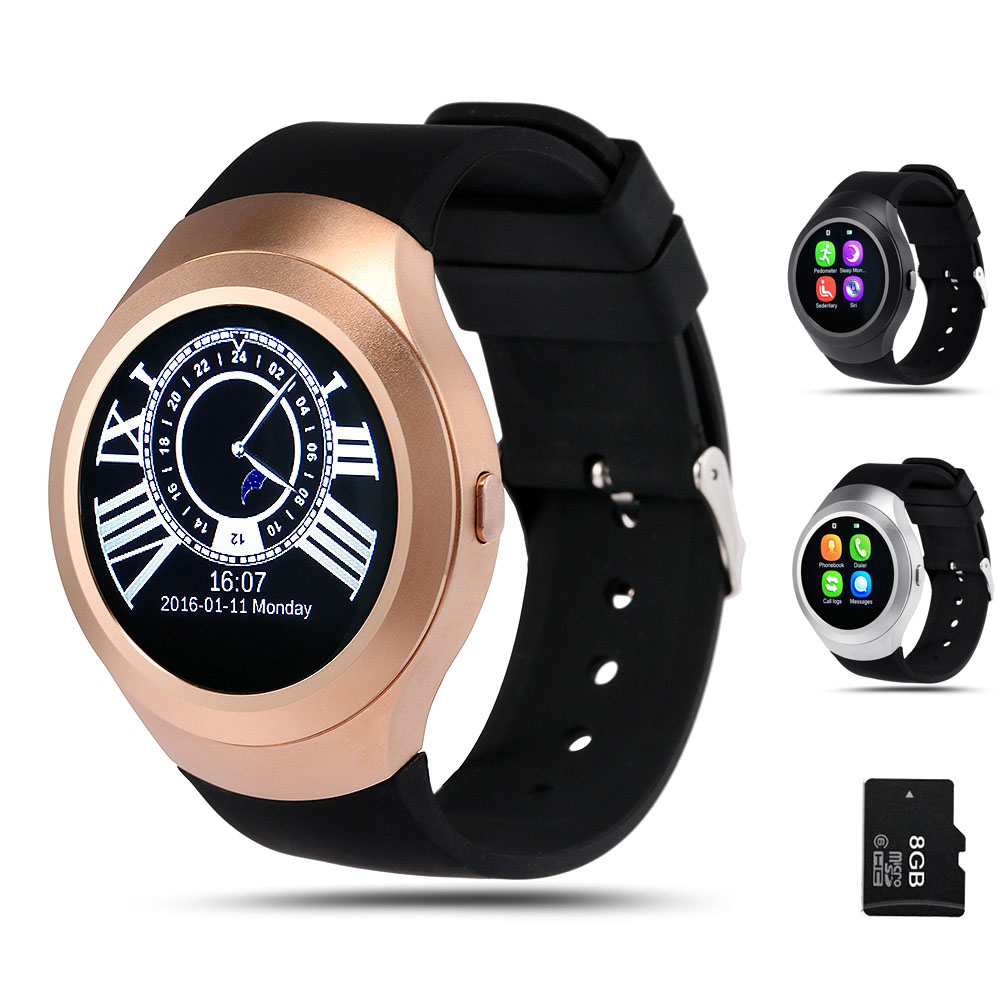 Bluetooth 4 0 font b Smartwatch b font Phone Support SIM Card Push Message for iPhone