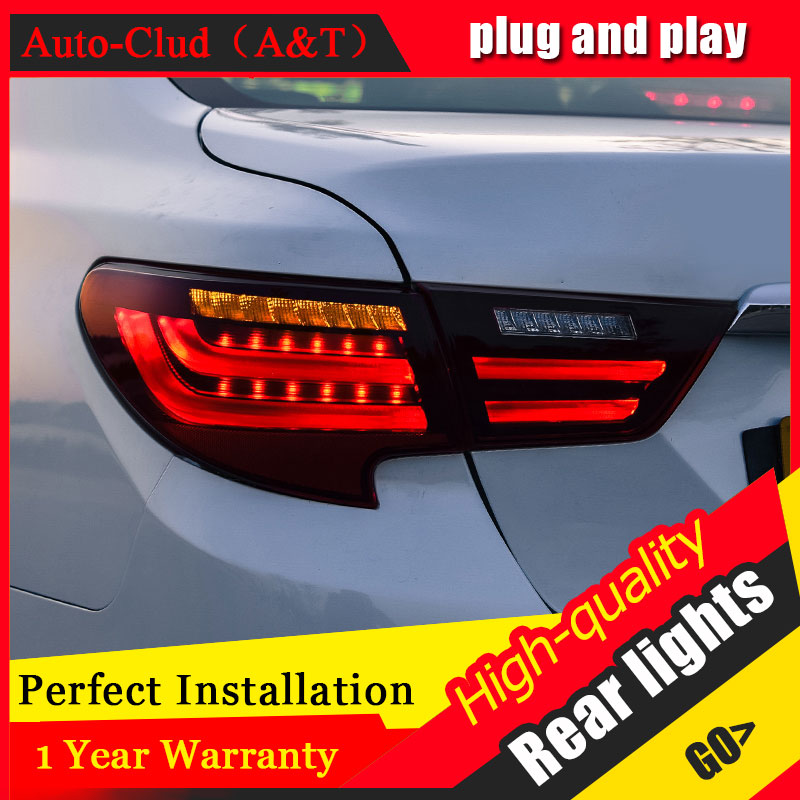 Car Styling LED Tail Lamp for Toyota Reiz Mark X LED Taillights 16-17 Rear Light +Turn Signal+Brake+Reverse auto Accessories l akd car styling led drl for toyota reiz 2012 2013 mark x eye brow light led external lamp signal parking accessories