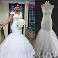 2016 Berydress Self-дизайн ручной работы Полный Бисером Африке Сексуальная Wrap Vestidos De Novia узелок Тюль Свадебное Платье Невесты Плюс размер