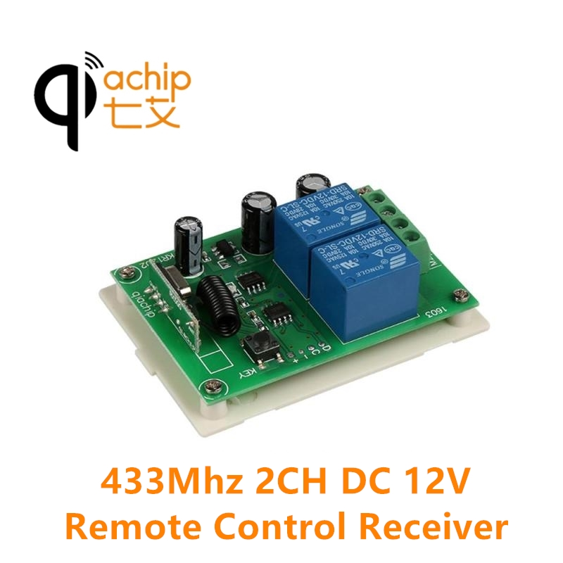 4CH 433MHz Relay Remote Control Switch Transmitter Receiver DC 12V Gate Garage