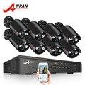 ANRAN 8CH система видеонаблюдения 48 В POE NVR комплект Onvif 1080 P 2.0MP HD POE IP камера Водонепроницаемая камера ночного видения система безопасности