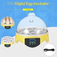 Mini 7 Eggs Inubator Chicken Duck Egg Hatcher Incubator Digital Automatic Egg Hatcher Temperature Controller Farm Home