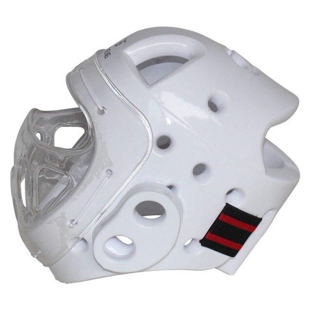 458658ed0b3d7 Proteção Da Cabeça Capacete Taekwondo Karate Dobok Kickboxing Sanda adulto  criança com máscara facial capacete ITF