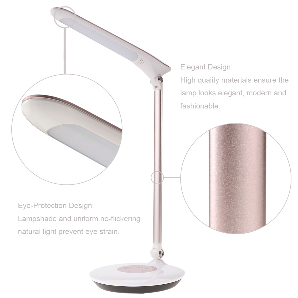 Foldable Dimmable Touch Sensitive Control LED Desk Lamp 5.5W 300LM 6 Levels Stepless Adjustable Eye-Protection led Table lamp