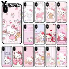 Yinuoda Cute cartoon Hello kitty Colorful Phone Accessories Case for Apple iPhone 8 7 6 6S Plus X XS MAX 5 5S SE XR Mobile Cover(China)