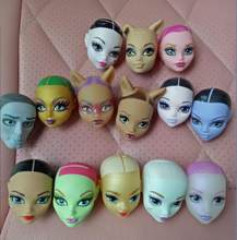freedom to choose a lot of style The original monster doll head,brand bald diy pvc High quality doll model toy for gift(China)