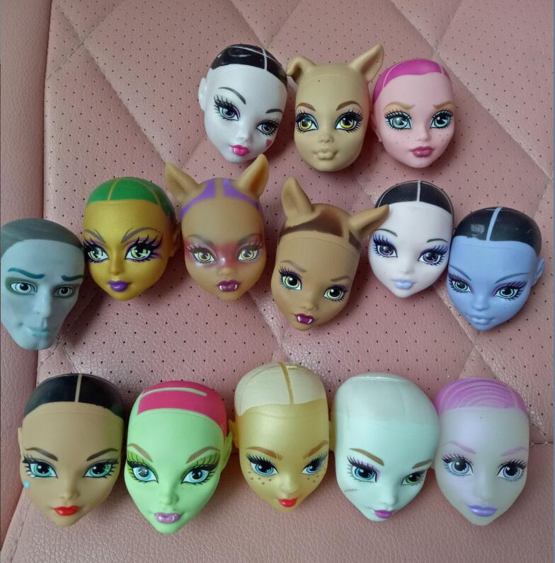 freedom to choose a lot of style The original monster doll head,brand bald diy pvc model toy for gift виниловая пластинка coldplay a rush of blood to the head