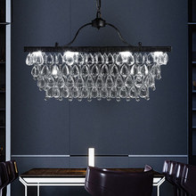 American Country Crystal Chandelier LED Light Retro Chandeliers Lights Fixture Home Indoor Living Dining Room Lighting